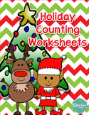 Holiday Counting 1-10 Worksheets and Flashcards