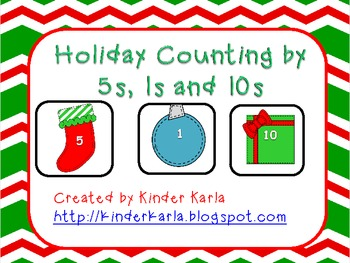 Holiday Counting by 5s, 1s, and 10s