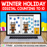 Holiday Counting to 10 for Google Classroom and Seesaw
