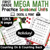 Christmas Counting On and Counting Back Holiday Mega Math