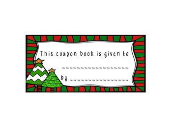Holiday Coupon Book ~ A gift for your students!