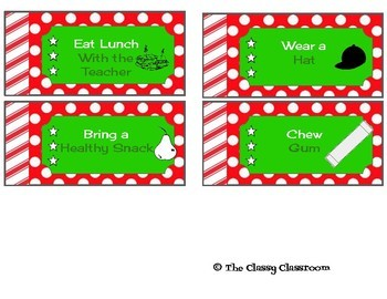 Holiday Coupon Book NO PREP from Teacher to Student