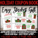 Holiday Coupon Book-Easy Student Gift-Upper Elementary
