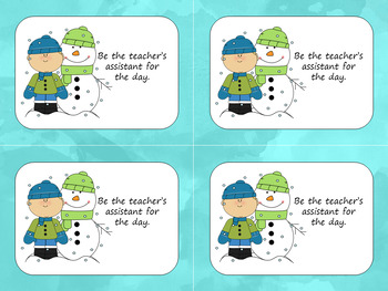 Holiday Coupon Gift for Students -Christmas and Winter Theme