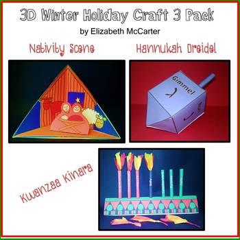 Holiday Craft 3-Pack (Kwanzaa, Hanukkah, Christmas)