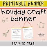 Christmas Craft Banner