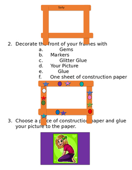 Holiday Craft Picture Frames