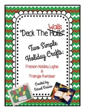 Holiday Crafts: Fraction Holiday Lights & Triangle Reindeer