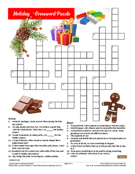 Holiday Crossword Puzzle