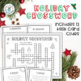 Holiday Crossword Puzzle and Task Cards