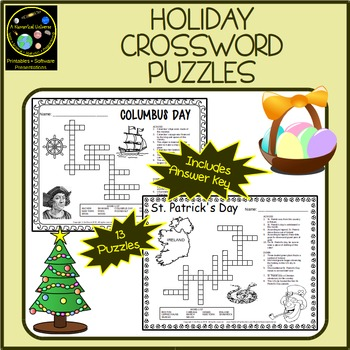 Holiday Crossword Puzzles