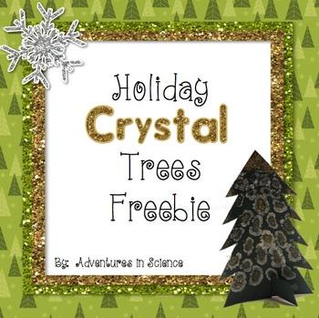Holiday Crystal Trees - Free Science Activity!