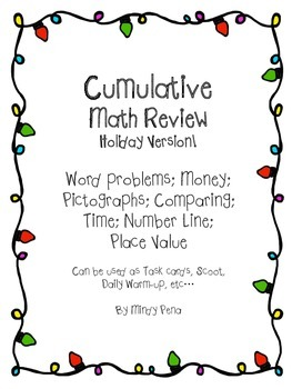 Holiday Cumulative Math Review