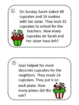 Holiday Math Word Problem Scavenger HUnt