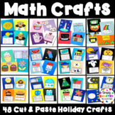 Holiday Cut And Paste Math Crafts Bundle