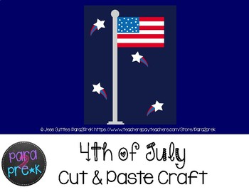 Holiday Cut and Paste Craft Template - 4th of July