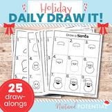 25 Christmas Directed Drawing/Christmas Advent Calendar Dr