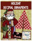 Christmas Decimal Review - Round Decimals, Add Decimals, Multiply Decimals