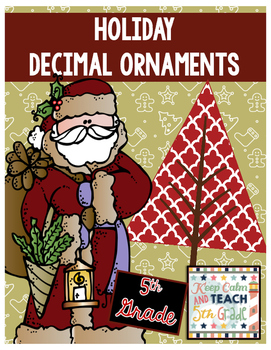 Christmas Decimal Review - Round Decimals, Add Decimals, Multiply Decimals