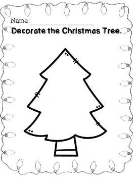 Holiday Decorating Coloring Pages