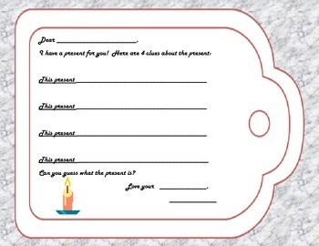 Holiday Describing Gift Tags