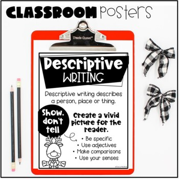 Christmas Holiday Writing: Descriptive Writing, Reindeer Wanted Writing Prompt