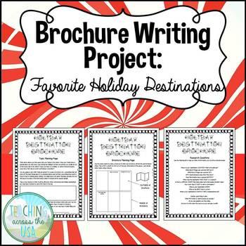 Holiday Destination Brochure Writing Activity