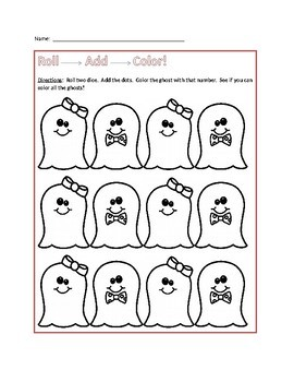 Holiday Dice Roll and Color Math Game