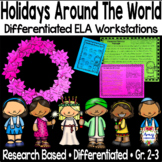 Holiday Differentiated ELA Reading Centers