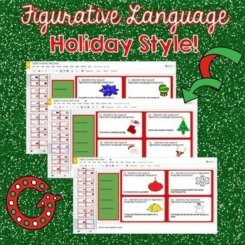 Digital Holiday Figurative Language Task Cards