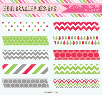 Holiday Digital Label Graphics - Clipart