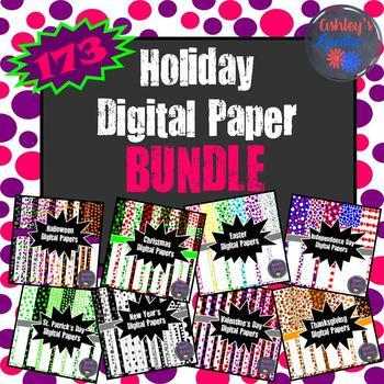 Holiday Digital Paper BUNDLE
