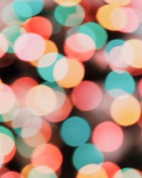 Holiday Digital Papers -- Pack of 12 Bokeh Designs