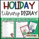 Holiday Display Signs and Bookmarks