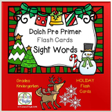 Holiday Dolch Pre Primer Flash Cards