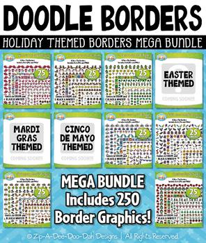 Holiday Doodle Frame Borders Mega Bundle {Zip-A-Dee-Doo-Dah Designs}