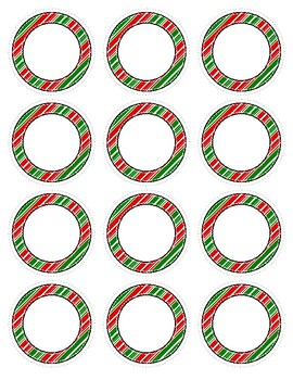 Holiday Dot Labels