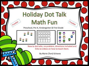 Holiday Dot Talk Math Fun