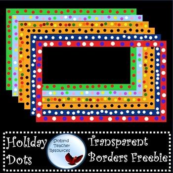 Holiday Dots Transparent Borders Frames Freebie