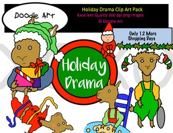 Holiday Drama Clipart Pack