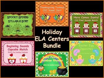 Holiday ELA Centers Bundle