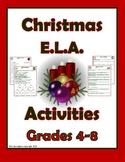 Christmas ELA Worksheets