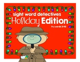 Holiday Edition Sight Word Detectives