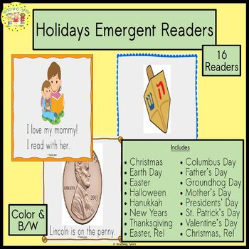 Holiday Emergent Readers Bundle
