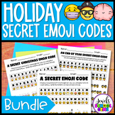 Holiday Emoji Activities BUNDLE (Secret Emoji Code Activit