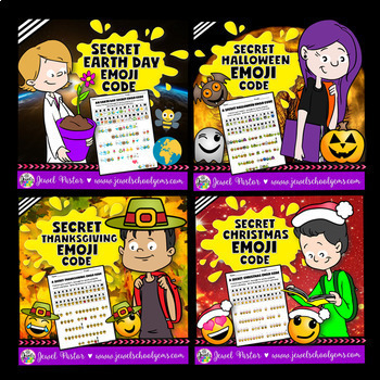 Holiday Emoji Activities BUNDLE (Back to School Emoji Activities and MORE)