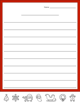 Holiday Emoji Writing Paper