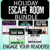 Reading Escape Room Holiday GROWING BUNDLE  - ELA Escape Room