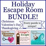Holiday Escape Room Bundle (NO PREP / MIN. PREP)