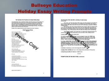 Holiday Essay Writing Prompts